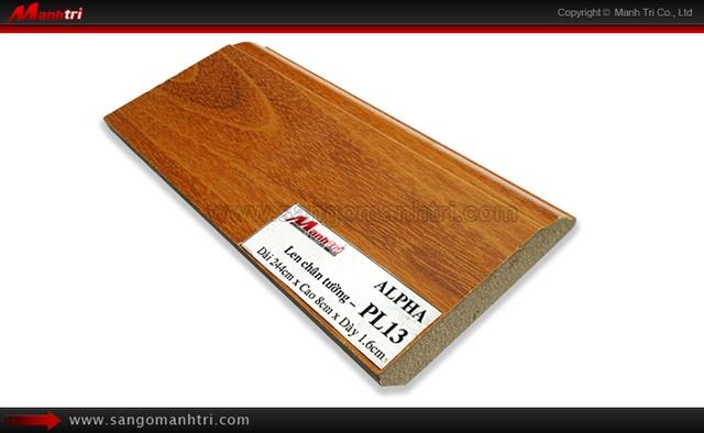 Len chân tường sàn gỗ PL14