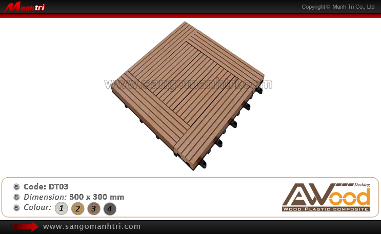 Vỉ gỗ nhựa Awood DT03