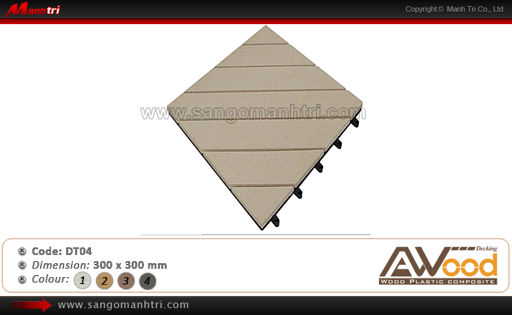 Vỉ gỗ nhựa Awood DT04