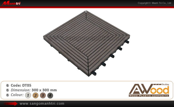 Vỉ gỗ nhựa Awood DT05