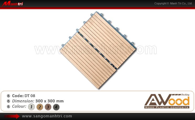 Vỉ gỗ nhựa Awood DT08