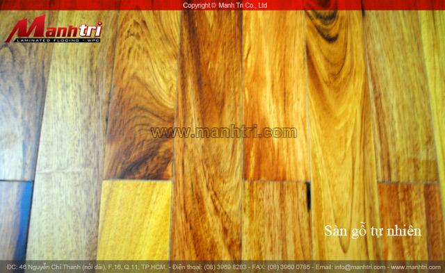 Dự án thi công sàn gỗ tự nhiên Căm Xe tại quận 11 TPHCM