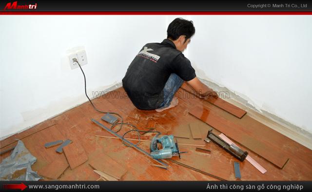 Dự án thi công sàn gỗ Euro Home EV10 tại quận Bình Thạnh TPHCM