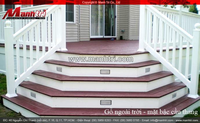 Bộ sưu tập gỗ làm bậc cầu thang ngoài trời