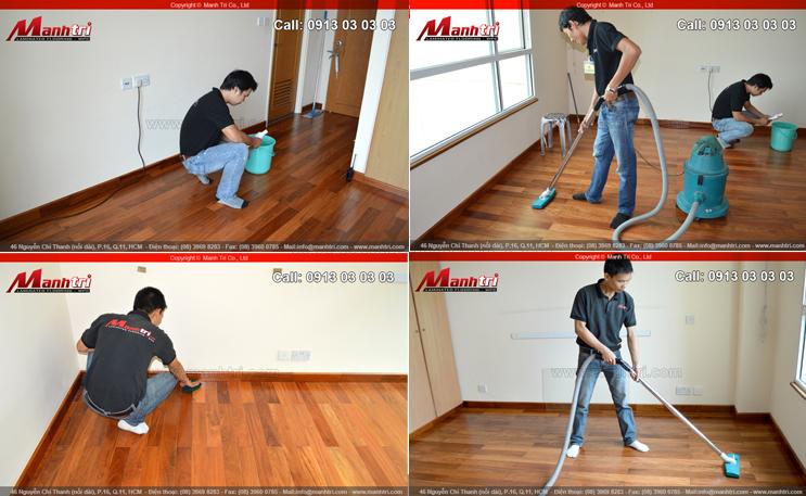 Giữ gìn sàn gỗ lâu, bền