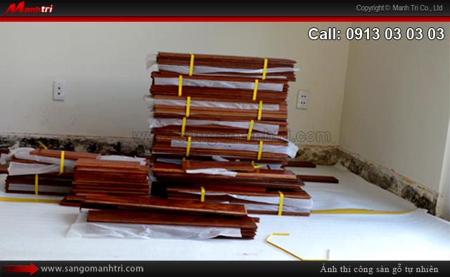 Lắp đặt gỗ tự nhiên Giáng Hương tại quận 2, TPHCM