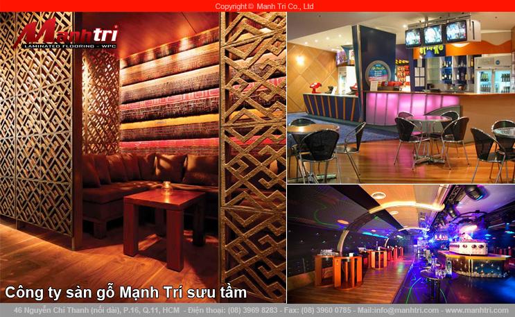 Thiết kế quán bar độc đáo với sàn gỗ công nghiệp