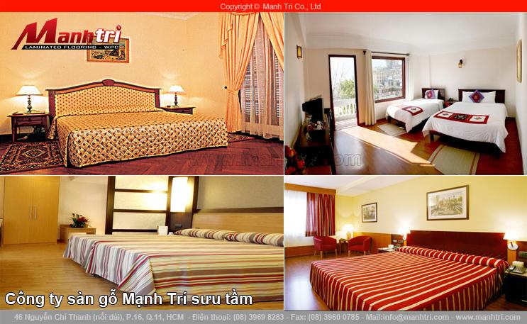 Thiết kế khách sạn đẹp và tinh tế với sàn gỗ công nghiệp