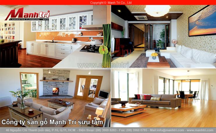 Thiết kế sàn gỗ công nghiệp phòng làm việc và phòng trong nhà