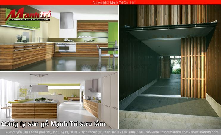 Thiết kế ngôi nhà hiện đại, tiện nghi với sàn gỗ công nghiệp ốp tường