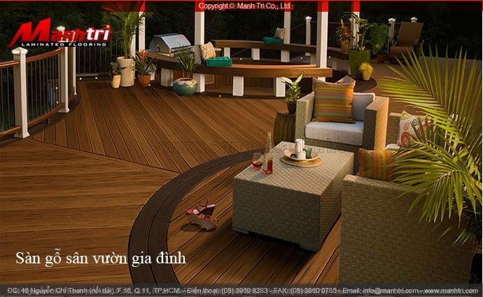 Bộ sưu tập sàn gỗ sân vườn gia đình