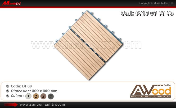 Vĩ gỗ nhựa Awood DT08 thi công tại quận 7, TPHCM