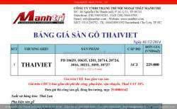Bảng giá sàn gỗ công nghiệp Thái Việt