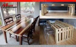 Bàn ghế gỗ thông pallet