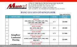 Bảng giá sàn gỗ công nghiệp KingFloor