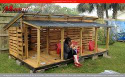Thiết kế nhà từ gỗ thông pallet