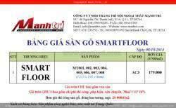 Bảng giá sàn gỗ Smart Floor