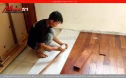 Lắp đặt sàn gỗ tự nhiên Căm Xe tại quận Phú Nhuận, TPHCM