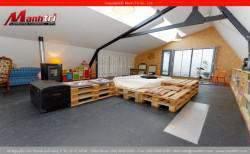 Thiết kế giường gỗ từ gỗ pallet