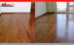 Sàn gỗ tự nhiên Căm Xe lót sàn nhà chị Nghĩa Tỉnh Trà Vinh