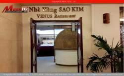 Gỗ tự nhiên Căm Xe Lào lắp đặt tại nhà hàng Sao Kim tại khách sạn Tân Sơn Nhất quận Phú Nhuận, TPHCM