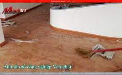 Lắp đặt sàn gỗ công nghiệp Vanachai VF1067 tại quận 7, TPHCM