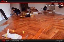 Nội thất với sàn gỗ tự nhiên