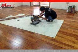 Sàn gỗ tự nhiên Căm Xe lắp đặt tại công ty PaiHo quận Tân Phú, TPHCM