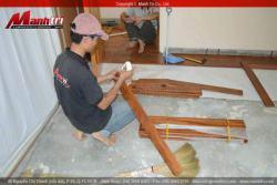 Căn hộ cao cấp lát sàn gỗ Căm Xe tự nhiên