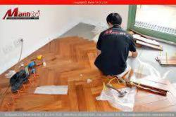 Biệt thự cao cấp lót sàn gỗ tự nhiên Căm Xe xương cá
