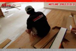 Chuẩn bị sàn nhà trước khi lát sàn gỗ công nghiệp