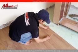 Các bước thi công sàn nhựa vinyl trong nhà