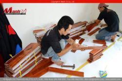 Qui trình lắp đặt sàn gỗ tự nhiên trên sàn bê tông