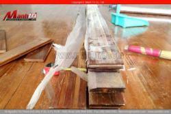 Qui trình lắp đặt sàn gỗ tự nhiên trên ván