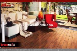 Trang trí quán cafe với sàn gỗ công nghiệp đẹp
