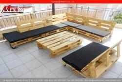 Thiết kế bàn ghế từ gỗ pallet