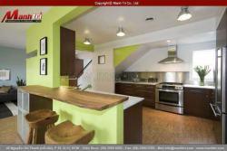 Sàn nhựa cao cấp cho không gian phòng bếp đẹp