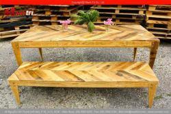 Bộ bàn ghế gỗ pallet trong phòng ăn