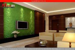 Sử dụng tấm ốp tường 3D trong trang trí nội thất