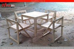Mẫu bàn ghế gỗ thông pallet