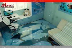 Gạch 3D lót sàn phòng làm việc
