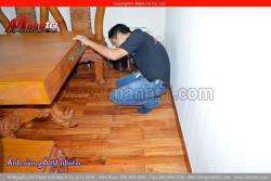 Sàn gỗ tự nhiên Gõ Đỏ đào giá rẻ