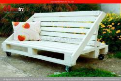 Ghế ngồi sân vườn từ gỗ pallet