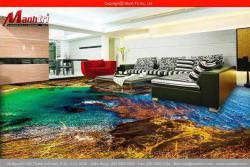 Mẫu sàn 3D lát nền nội thất
