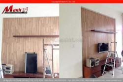 Sàn gỗ công nghiệp ốp tường