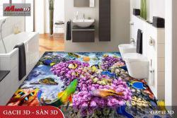 Sử dụng gạch 3D trong trang trí phòng tắm