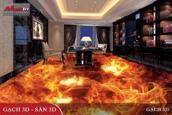 Tăng phần mới lạ cho phòng khách với gạch 3D ốp lát
