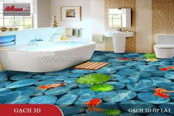 Những mẫu gạch 3D đẹp cho phòng tắm – phòng vệ sinh