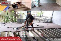 Lắp đặt thi công sàn gỗ, phụ kiện, chốt vít gỗ ngoài trời