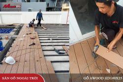 Lắp đặt sàn gỗ Awood HD140x25_Wood tại Ninh Kiều Cần Thơ